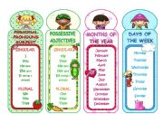 English Worksheets: BOOKMARKS (3 pages)