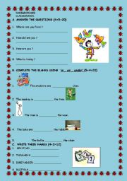 English worksheet: Aquiz for young learners