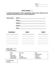 English Worksheets: Writing Template