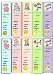 classroom commands - bookmarks