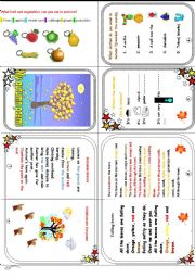 Autumn poems and activities  (clothes/weather/ fruit and veg.)