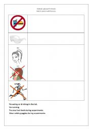 Lab Safety Rules Worksheet Checks Worksheet