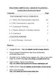 English Worksheets: teaching method lesson planning