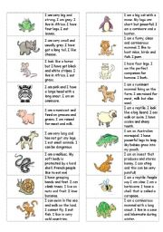 English Worksheets: Animals dominoes