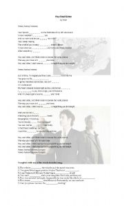 English Worksheet: Hey Soul Sister - Song