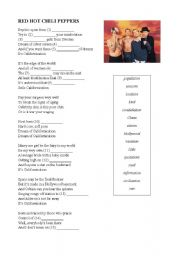 English Worksheet: Californication - Red Hot Chili Peppers