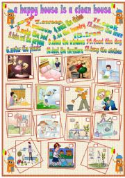 English Worksheet: a happy house is a clean house