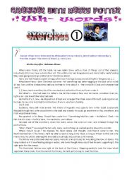 English Worksheets: grammar with Harry Potter : wh- words exercises, part 1