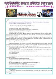 English Worksheets: grammar with Harry Potter : wh- words exercises - part 2