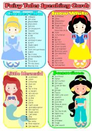 Fairy Tales Speaking Cards