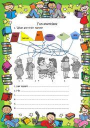 English Worksheets: Fun exercises