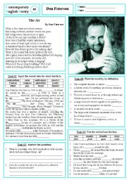 English Worksheets: Contemporary English Poetry 08 - Don Paterson