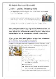 english teaching worksheets idioms. Black Bedroom Furniture Sets. Home Design Ideas