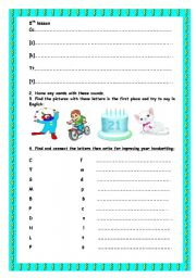English Worksheets: 5th-8th lessons. PART2.
