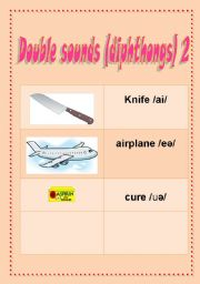 English Worksheet: Double sounds diphthongs 2