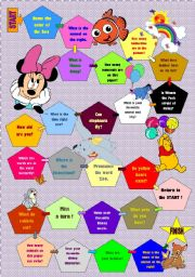 English Worksheet: Disney boardgame