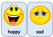 English Worksheet: feelings flashcards