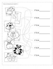 zoo animals matching esl worksheet by fabiola r. Black Bedroom Furniture Sets. Home Design Ideas