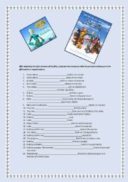 English worksheet: Present Continuous with the film Robots