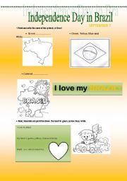 English Worksheet: Independence Day in Brazil