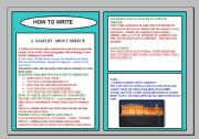 how to write a leaflet in english exam