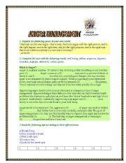 English Worksheets: ANGER MANAGEMENT