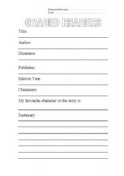 English Worksheets: graded readers