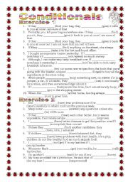 English Worksheet: Grammar from A to Z Conditionals (mixed inter alia) (19-25)