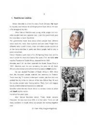 English Worksheet: Test about Nelson Mandela