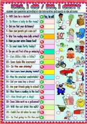 English Worksheet: Yes, I do / No, I don´t