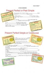 English Worksheet: Present Perfect and Present Perfect Continuous