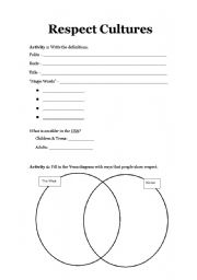 Worksheets Worksheets On Respect english worksheets respect cultures worksheet cultures
