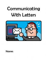 English Worksheets: Communicating With Letters