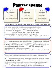 Worksheets Participle Worksheets english teaching worksheets participle mixed participles