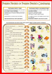 English Worksheet: Present Perfect Simple and Present Perfect Continuous