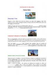 English Worksheets: Traveling to Orlando