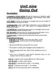 English Worksheets: upstream 1 unit 9 worksheet