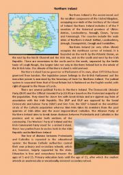 English Worksheet: Northern Ireland
