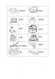 English worksheet: Food Domino