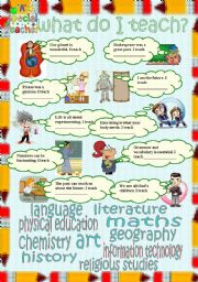 English Worksheet: what do I teach?
