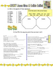 English Worksheet: LUCKY - Jason Mraz and Colbie Caillat