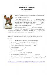 English Worksheet: Pirates of the Caribbean: On Stranger Tides  worksheet