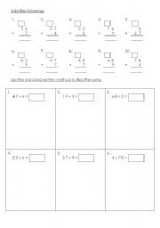 English Worksheets: addition with regrouping