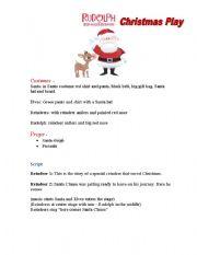 English teaching worksheets: Christmas play scripts
