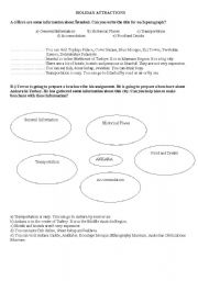English Worksheets: Holiday attraction