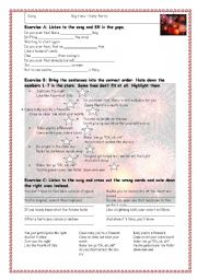English Worksheets: Fireworks by Katy Perry