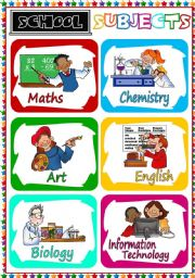 School Subjects - flashcards