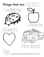 Things That Are Red Coloring Pages Things that are red Images - Frompo