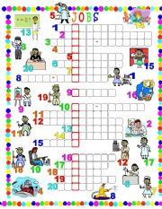 English Worksheet: Jobs-Crossword