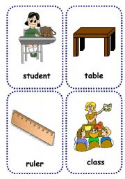 English Worksheet: school objects flashcards 2/2
